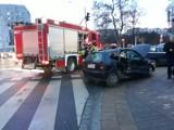 Wypadek na skrzyżowaniu Wyszyńskiego i Prusa. Jedna osoba ranna