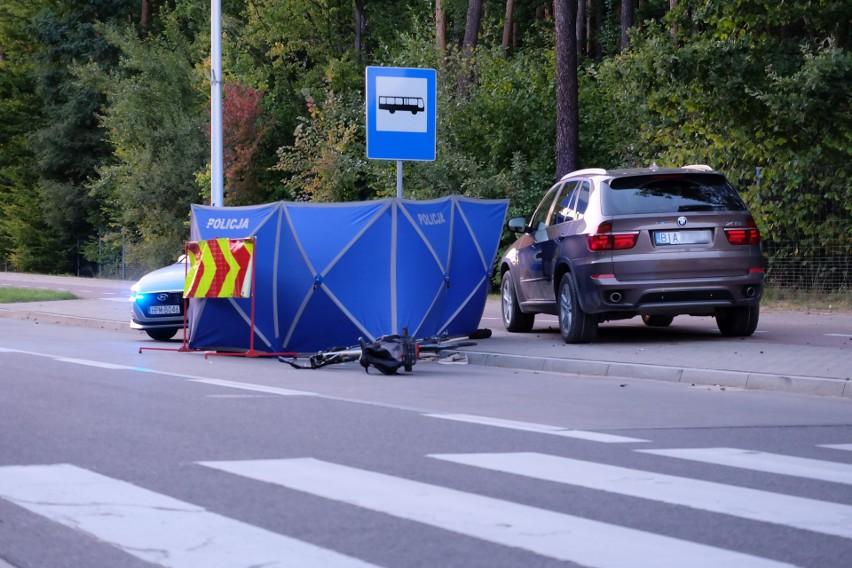 Śmiertelny wypadek rowerzysty pod wiaduktem w Białymstoku. Potrąciła go kobieta w BMW