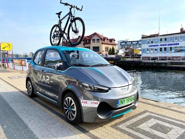 Elektryczne auto z Nysy przejechało wzdłuż polskiego wybrzeża.