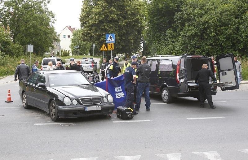 Śmiertelny wypadek na ul. Hożej w Szczecinie.