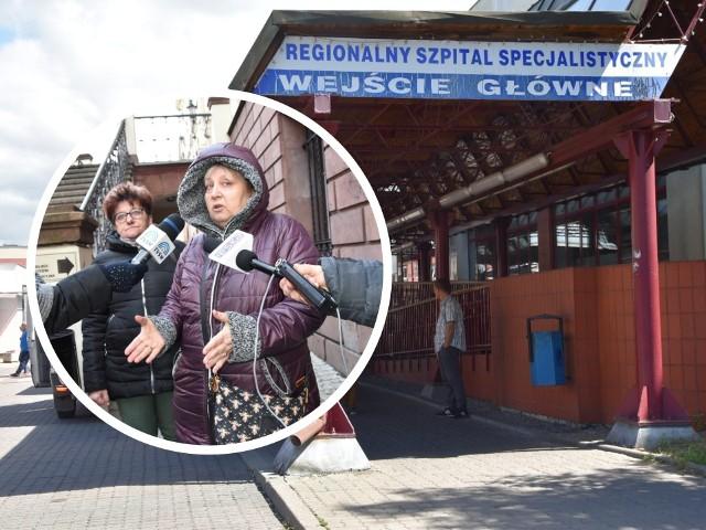 Krystyna Trejtowicz (z prawej): - Ile jeszcze ma trwać ten marazm? Elżbieta Wilczewska (z lewej): - Pacjenci nie mogą żyć w strachu