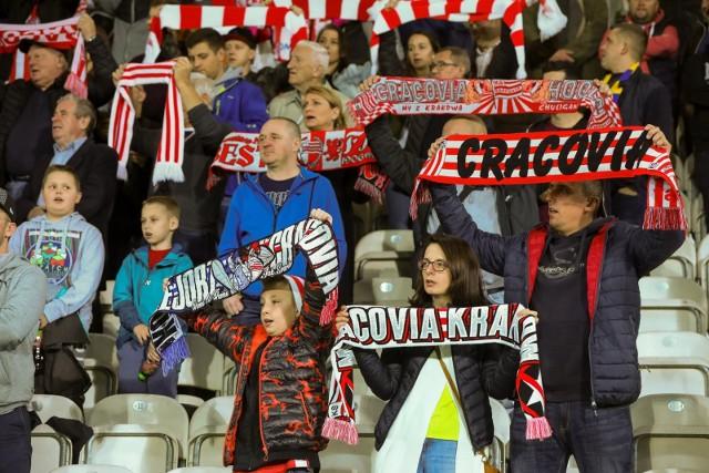 Kibice na meczu Cracovia - Pogoń Szczecin