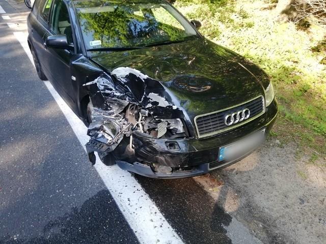 Dziś na ul. Gdańskiej w Koszalinie doszło do kolizji dwóch samochodów - audi oraz volkswagena. Na szczęście nikomu nic się nie stało. Zobacz także: Wypadek na ul. Monte Cassino