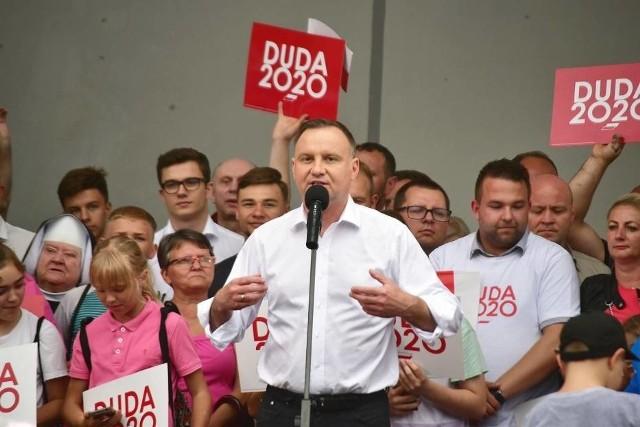 Andrzej Duda w Kwidzynie, 29.06.2020 r.