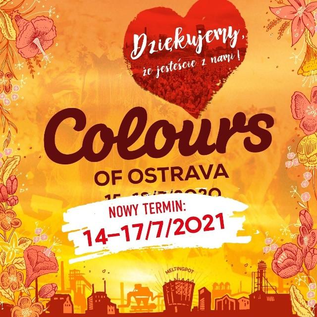 Festiwal Colours of Ostrava w Ostrawie został przeniesiony na 2021 rok.