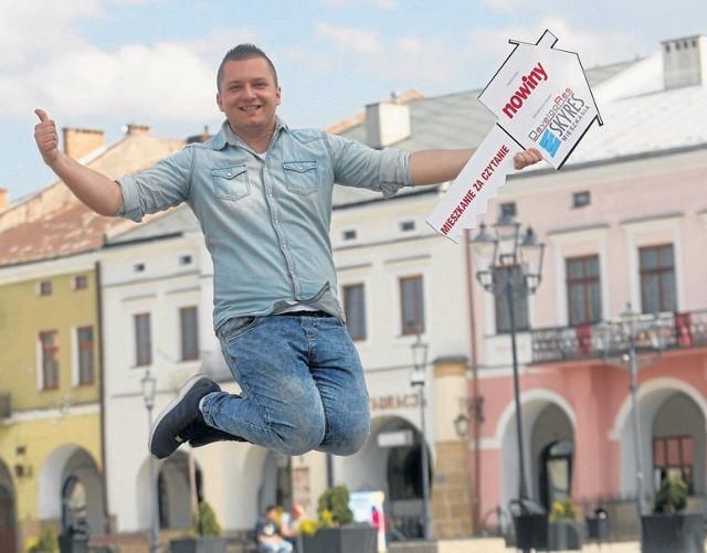 Paweł Zwierzyński z Gorlic wygrał w loterii Nowin dwupokojowe mieszkanie w Rzeszowie warte 305 tys. zł