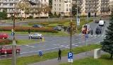 Wypadek na alei Piłsudskiego w Białymstoku. Samochód potrącił kobietę na przejściu dla pieszych (zdjęcia)