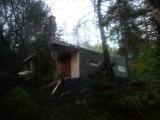 Zasań. Pożar domku letniskowego. Ogień gasiło pięć zastępów straży pożarnej