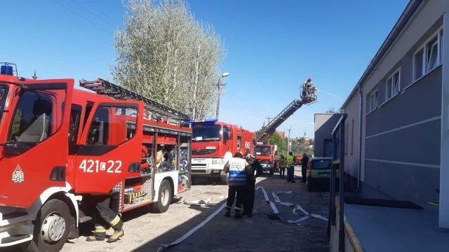 Akcja ratowniczo-Gaśnicza - strażaków wezwano do Adriany w Chełmnie. To były tylko ćwiczenia