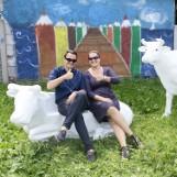 Powiat pucki: Wi-fi na internetowych pastwiskach i krowy zamiast ławek i stolików [ZDJĘCIA]