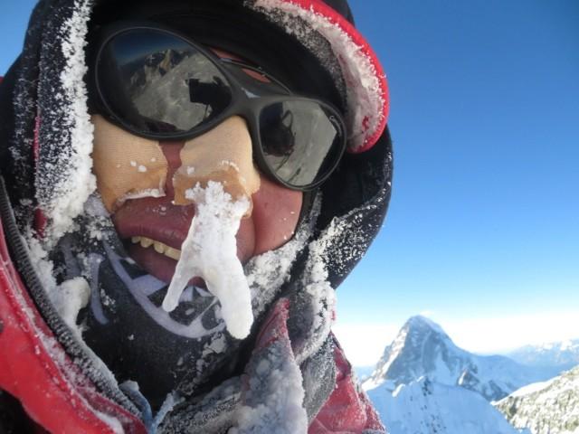Adam Bieleci na szczycie Broad Peak