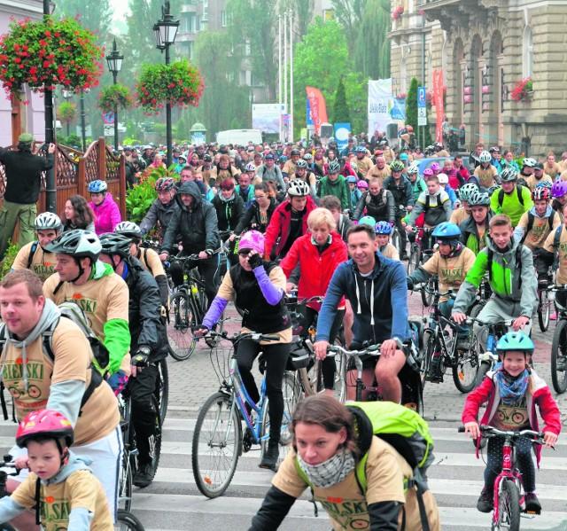 Środowisko rowerowe w Bielsku-Białej jest bardzo mocne. W niedzielnym rajdzie wzięło udział ok. 2 tysięcy cyklistów