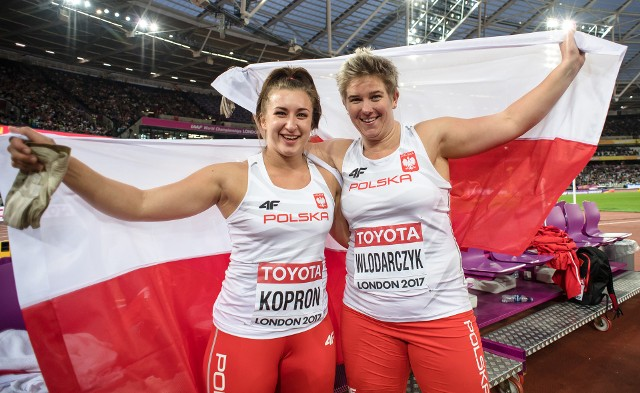 Malwina Kopron (od lewej) i Anita Włodarczyk stoczą bój o mistrzostwo Polski w rzucie młotem