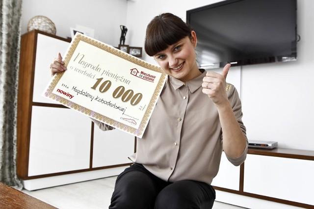 """- Część wygranej przeznaczę na prenumeratę Nowin. I z pewnością nadal będę brała udział w Loterii """"Mieszkanie za czytanie – mówi Magdalena Łobodzińska."""