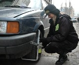 Straż blokuje samochody na Kuśnierskiej
