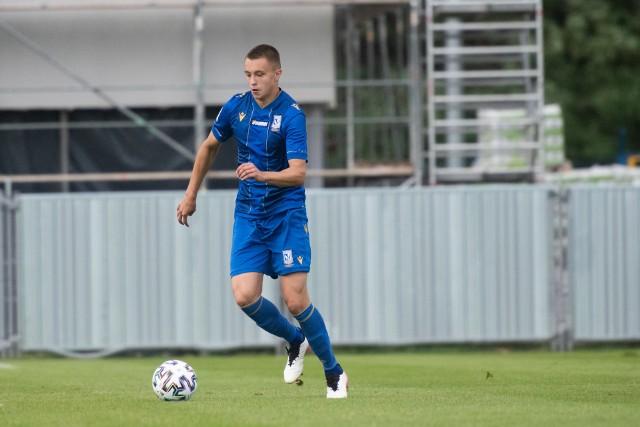 Lech II Poznań awansował do 1/16 Fortuna Pucharu Polski. Cały mecz rozegrał Maksymilian Pingot (na zdjęciu).