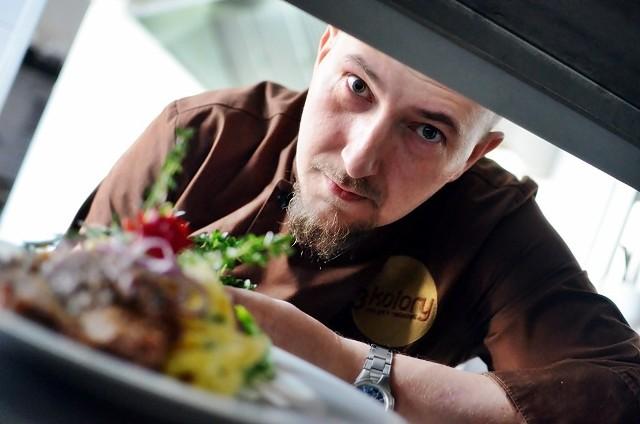 Adam Zastróżny, szef kuchni Restauracji 3 Kolory