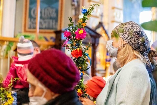 Niedziela Palmowa w soborze św. Mikołaja w Białymstoku