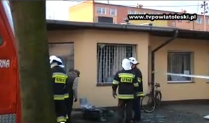 Wybuch przy ul. Fabrycznej w Praszce