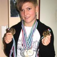 Zawody niepełnosprawnych pływaków Asia Mendak wygrywa od wielu lat. Tyle medali przywiozła z mistrzostwa świata, które odbywały się w RPA w 2006 roku.
