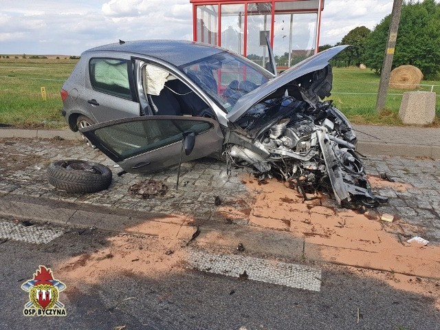 Wypadek na DK 11 w Biskupicach.