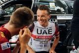Rafał Majka w roli pomocnika Tadeja Pogacara w wyścigu Tirreno-Adriatico