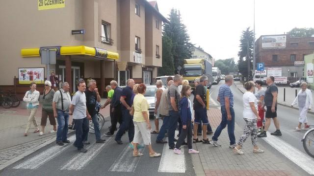 Blokada drogi w Węgierskiej Górce