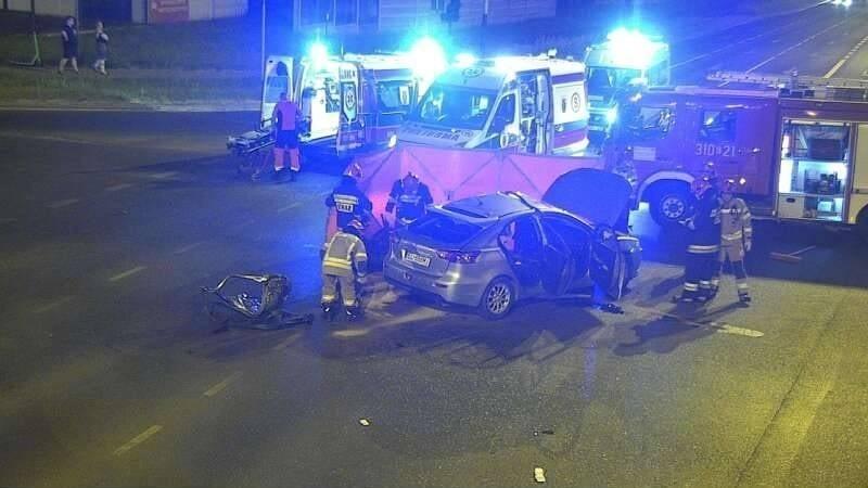 W wyniku zderzenia śmierć na miejscu poniósł motocyklista,...