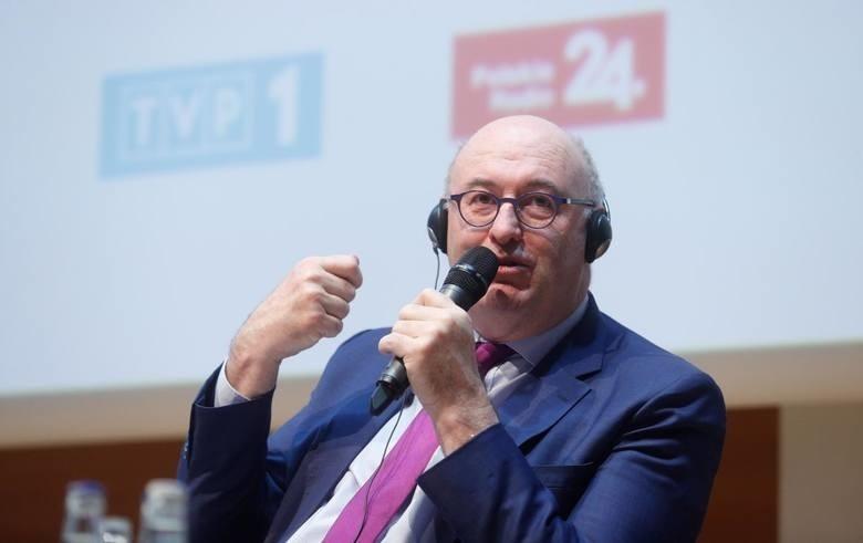 Phil Hogan podczas Europejskiego Forum Rolniczego w Jasionce (2018 rok)