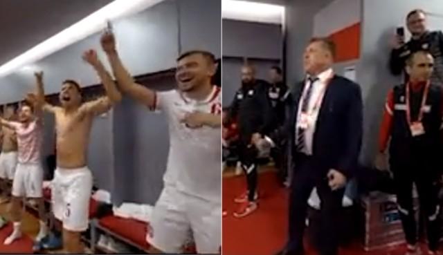 Cezary Kulesza pokazał atmosferę panującą w szatni po wygranej z Albanią