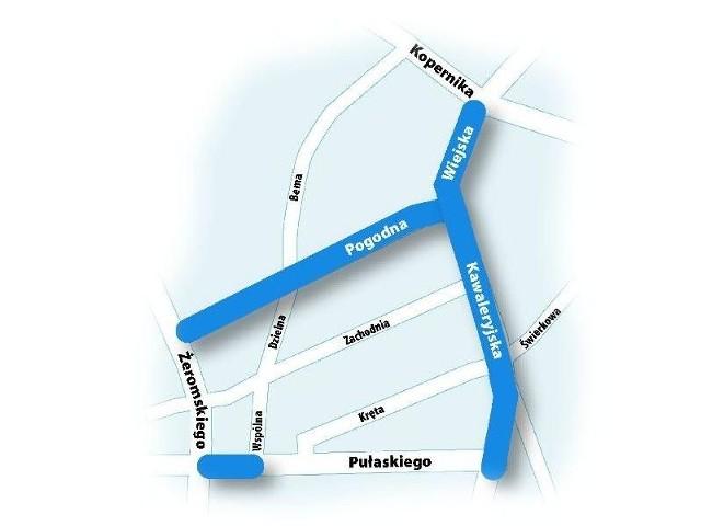 Na mapie zaznaczyliśmy ulice, przy których powstaną ścieżki rowerowe