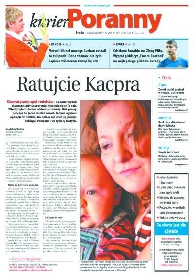 Pierwszy raz o chorym dziecku napisaliśmy 4 grudnia