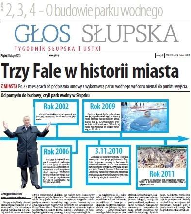 """W piątek w """"Głosie"""": Raport z budowy słupskiego akwaparku i inne historie."""