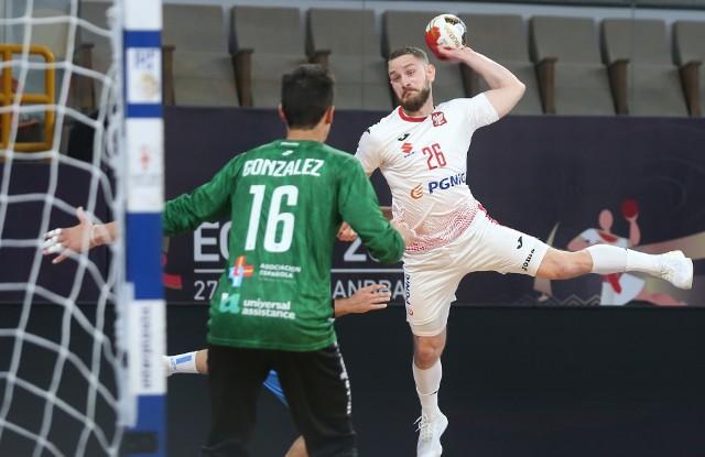 Polscy piłkarze ręczni nadal mają szanse na awans do ćwierćfinału mistrzostw świata. Na zdjęciu Michał Daszek.
