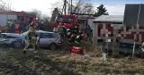 Wypadek w Gąbinie. Auto dostawcze zderzyło się z osobówką