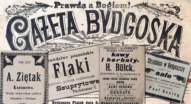 """Prezentowane przez nas zdjęcia to fotografie ogłoszeń sprzed ponad 100 lat. Pochodzą one z archiwalnych wydań """"Gazety Bydgoskiej"""". Zobaczcie unikalne zdjęcia ogłoszeń z gazet publikowanych w 1899 roku i zobaczcie, co reklamowano w gazetach przed stu laty.Zobacz więcej ogłoszeń sprzed ponad stu laty! >>>"""