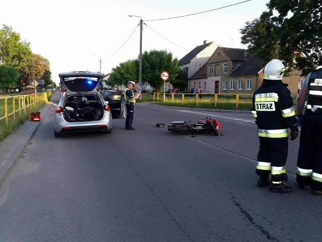 W niedzielę, około godz. 19.40, w Szczuczynie doszło do wypadku.