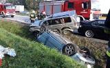 Wypadek na A4 pod Wrocławiem. Dachowanie, jedna osoba ranna