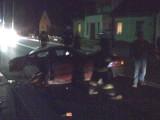 Sztabin: Wypadek. Audi przełamało się na pół, kierowca i pasażer uciekli (zdjęcia)