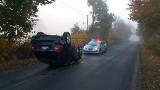 W Żabieńcu samochód o mały włos nie zderzył się z bażantem! Auto dachowało, policja apeluje do kierowców o rozwagę.