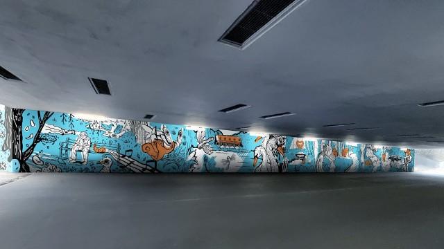 Projekt muralu, który w najbliższym czasie pojawi się w tunelu pod ul. Niestachowską.
