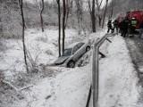 Zubrzyk. Zderzenie osobówki z ciężarówką zablokowało główną drogę w dolinie Popradu