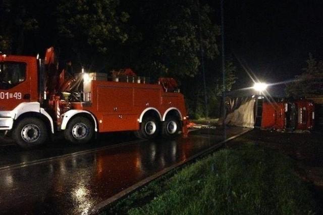 Ciężarowym volvo kierował 50-letni obywatel Słowacji.