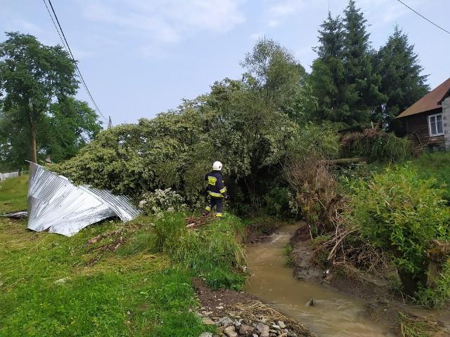 Strażacy z Uścia interweniowali w Skwirtnem