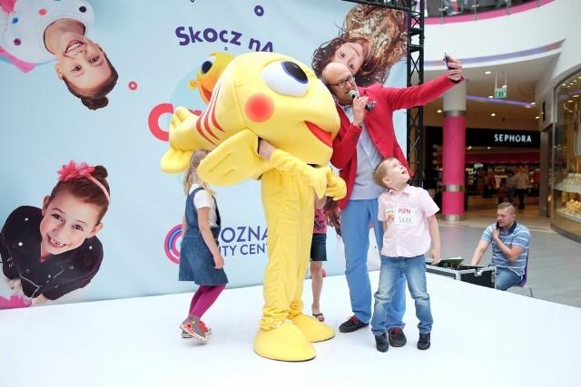 Wspólna zabawa i casting z rybką MiniMini w Poznań City Center