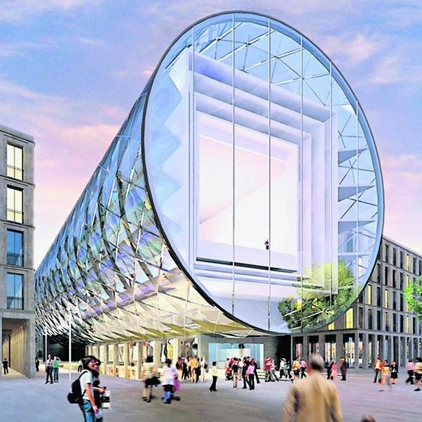 Nie powstanie szklana rura Specjalnej Strefy Sztuki autorstwa architektów niemieckich z pracowni Moeller Architekten + Ingenieure.