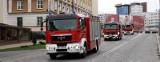 Dziś św. Floriana - Dzień Strażaka. Przez miasto przejechała kolumna wozów strażackich. (wideo)