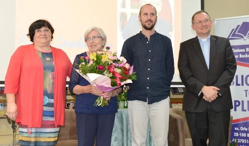 Gościem honorowym XVI Spotkań z Kulturą Żydowską w buskiej bibliotece była Anna Lewkowicz (druga z lewej), mieszkająca na stałe w Izraelu.