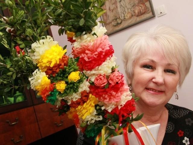 Międzyrzeczanka Genowefa Filipek robi palmy od ponad 50 lat.