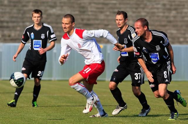 Piłkarz ŁKS Jakub Więzik